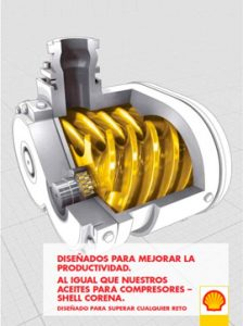 Catálogo SHELL sobre aceites para compresores, gama CORENA