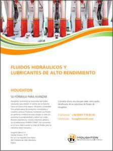 Catálogo HOUGHTON sobre fluidos hidráulicos y lubricantes de alto rendimiento