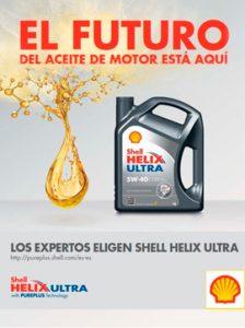 Catálogo SHELL sobre aceite de motor de alto rendimiento, gama HELIX ULTRA