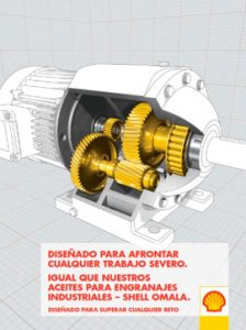 Catálogo SHELL sobre aceites para engranajes industriales, gama OMALA