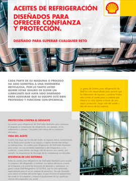 Catálogo SHELL sobre aceites de refrigeración, gama REFRIGERATION OIL
