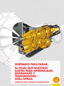 Catálogo SHELL sobre aceites para diferenciales, engranajes y transmisiones, gama SPIRAX